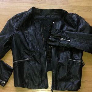 BKE Leather Lace Jacket